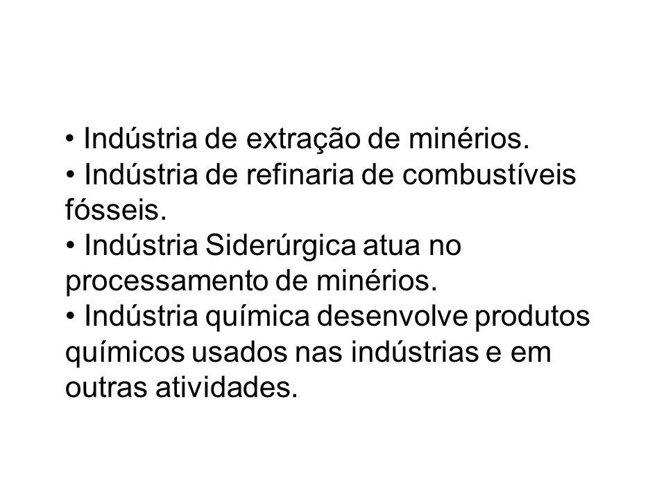 • Indústria de extração de minérios