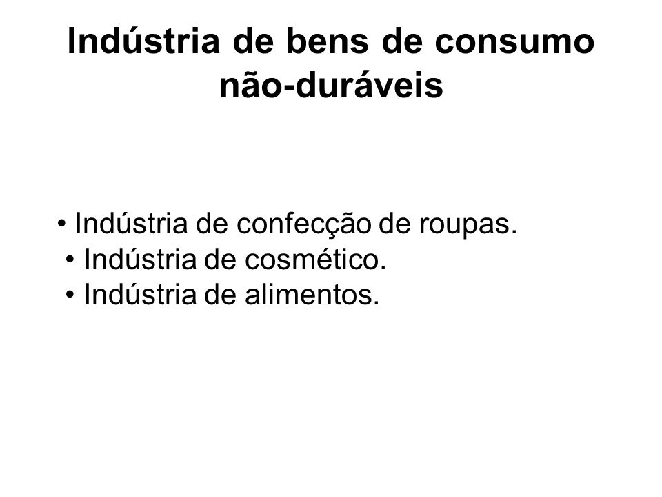Indústria de bens de consumo não-duráveis