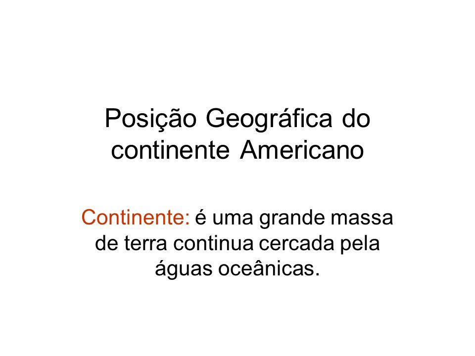 Posição Geográfica do continente Americano