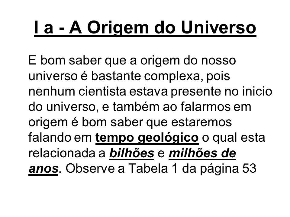 I a - A Origem do Universo