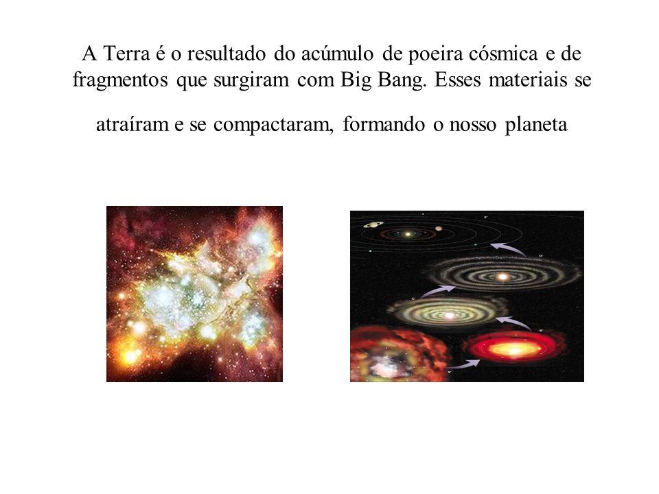 A Terra é o resultado do acúmulo de poeira cósmica e de fragmentos que surgiram com Big Bang.