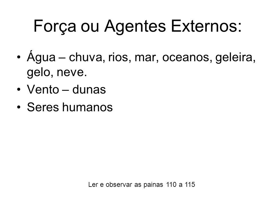 Força ou Agentes Externos: