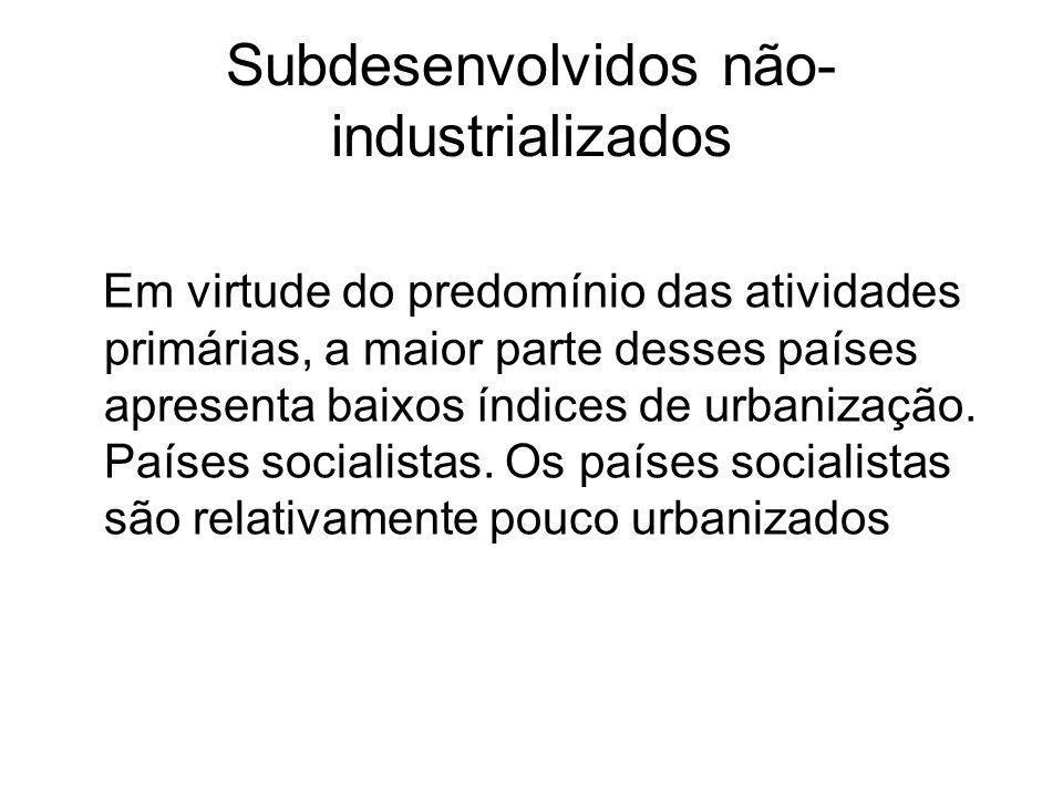 Subdesenvolvidos não-industrializados