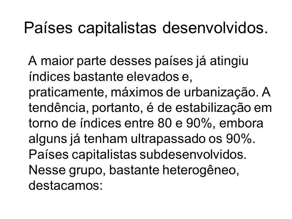 Países capitalistas desenvolvidos.