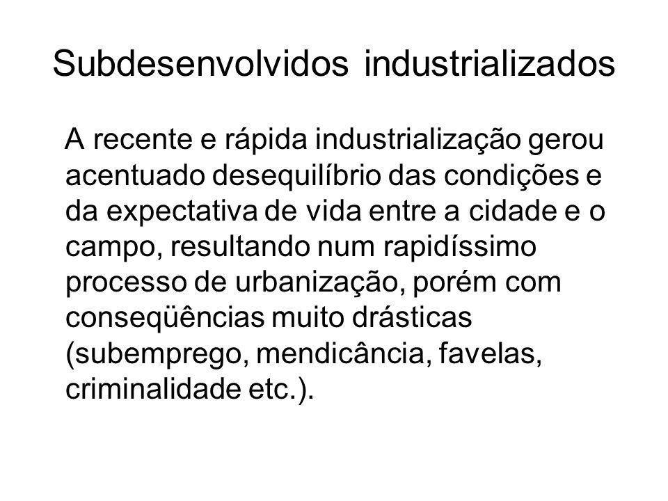 Subdesenvolvidos industrializados