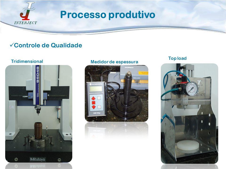 Processo produtivo Controle de Qualidade Top load Tridimensional