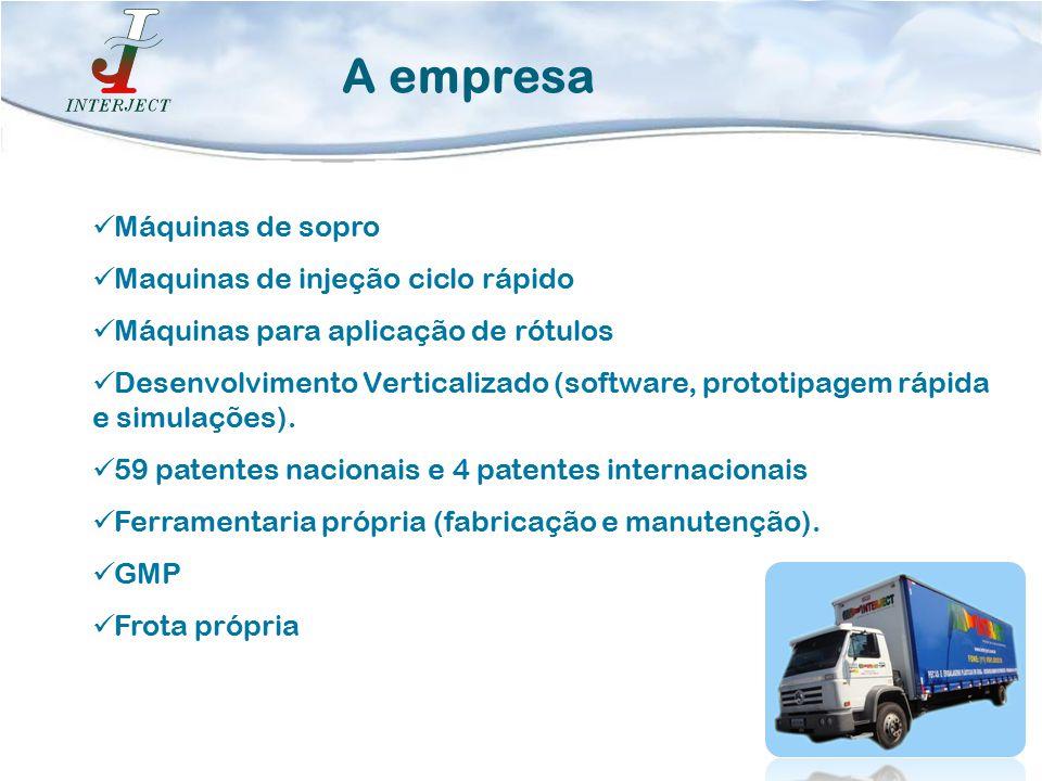 A empresa Máquinas de sopro Maquinas de injeção ciclo rápido
