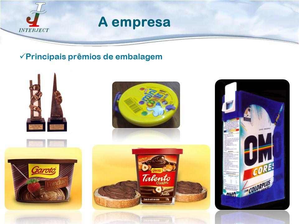 A empresa Principais prêmios de embalagem