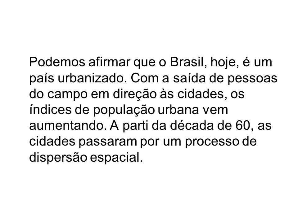 Podemos afirmar que o Brasil, hoje, é um país urbanizado