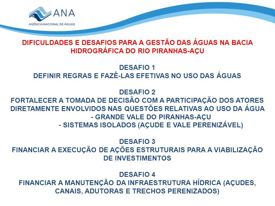 DEFINIR REGRAS E FAZÊ-LAS EFETIVAS NO USO DAS ÁGUAS DESAFIO 2