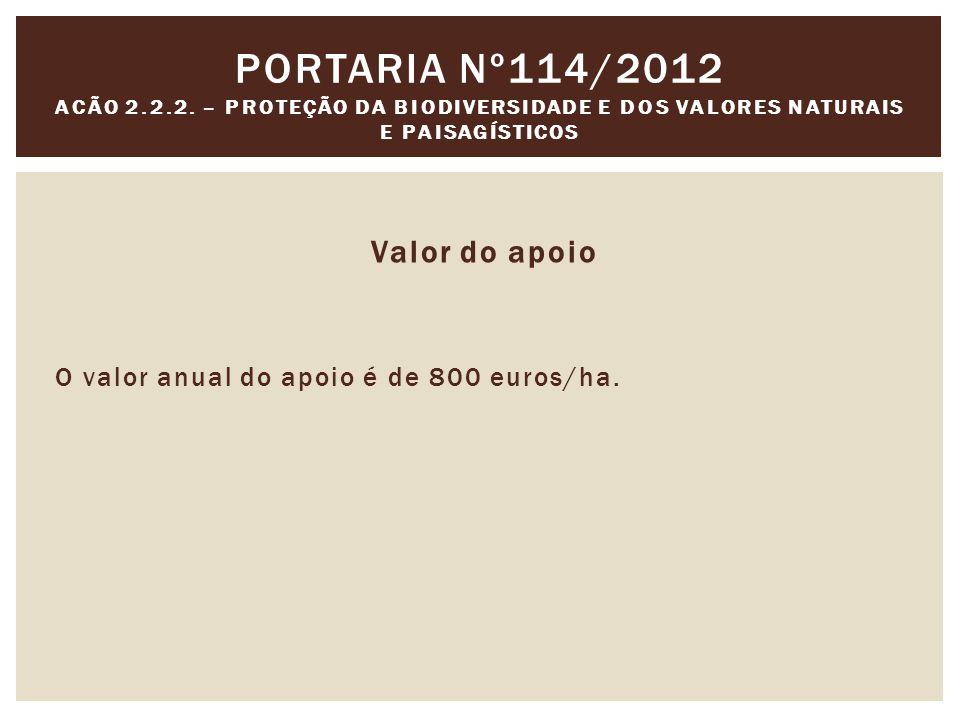 Portaria nº114/2012 Acão 2.2.2. – Proteção da Biodiversidade e dos Valores Naturais e Paisagísticos