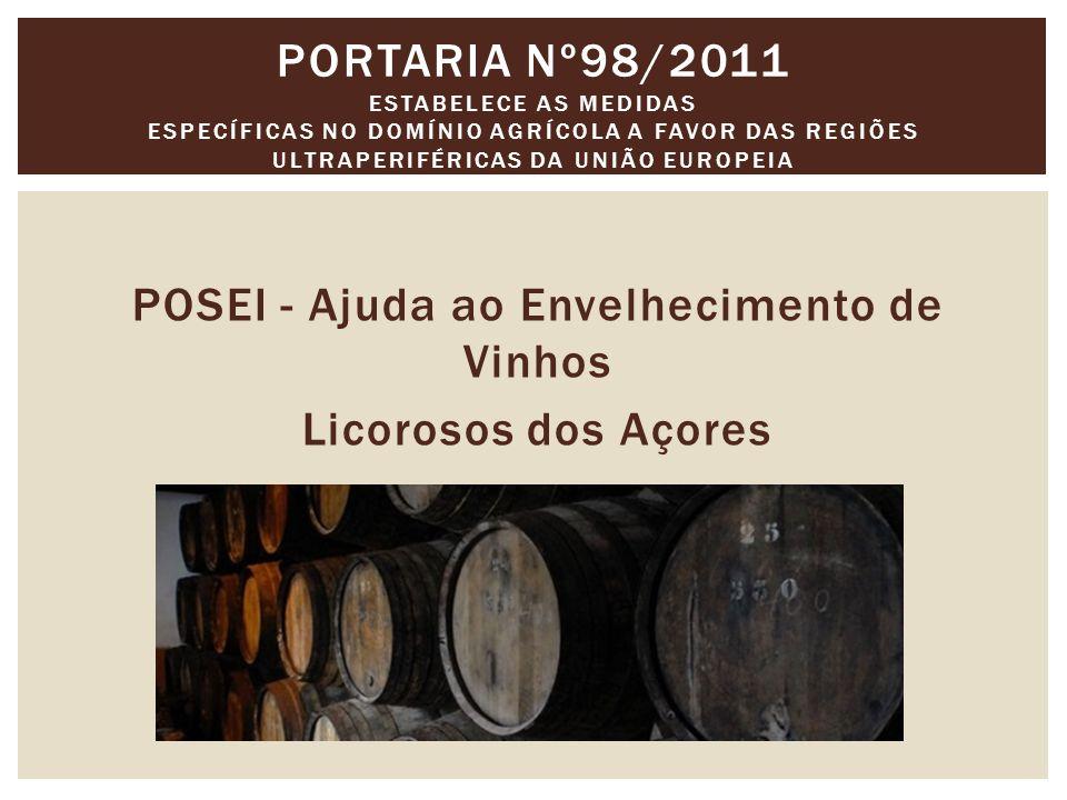 POSEI - Ajuda ao Envelhecimento de Vinhos Licorosos dos Açores