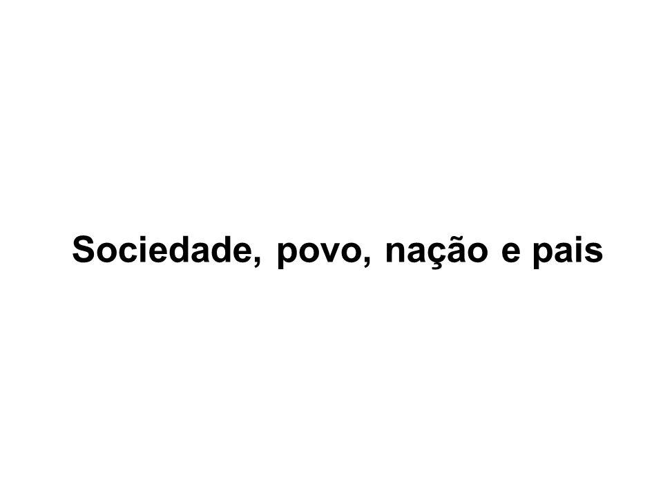 Sociedade, povo, nação e pais