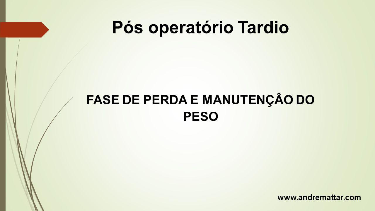 FASE DE PERDA E MANUTENÇÂO DO PESO