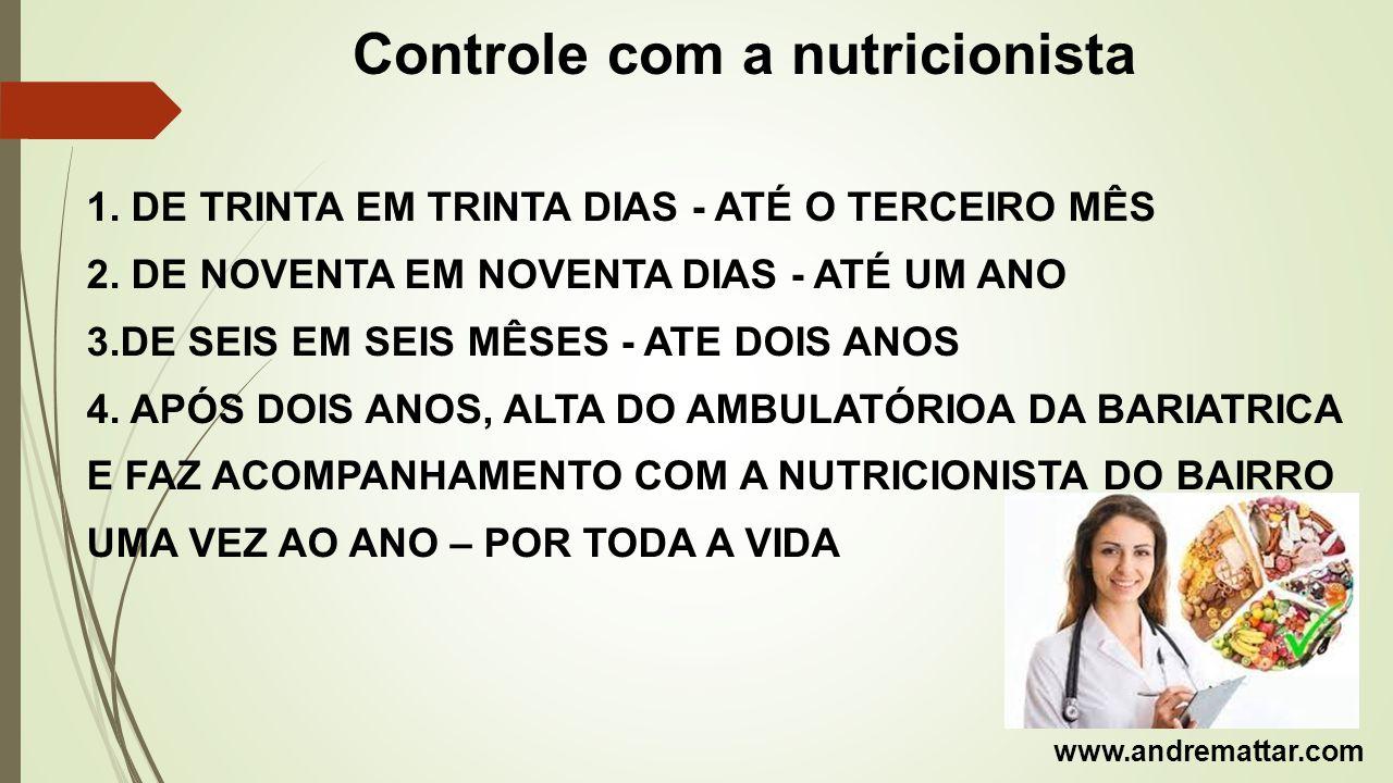 Controle com a nutricionista