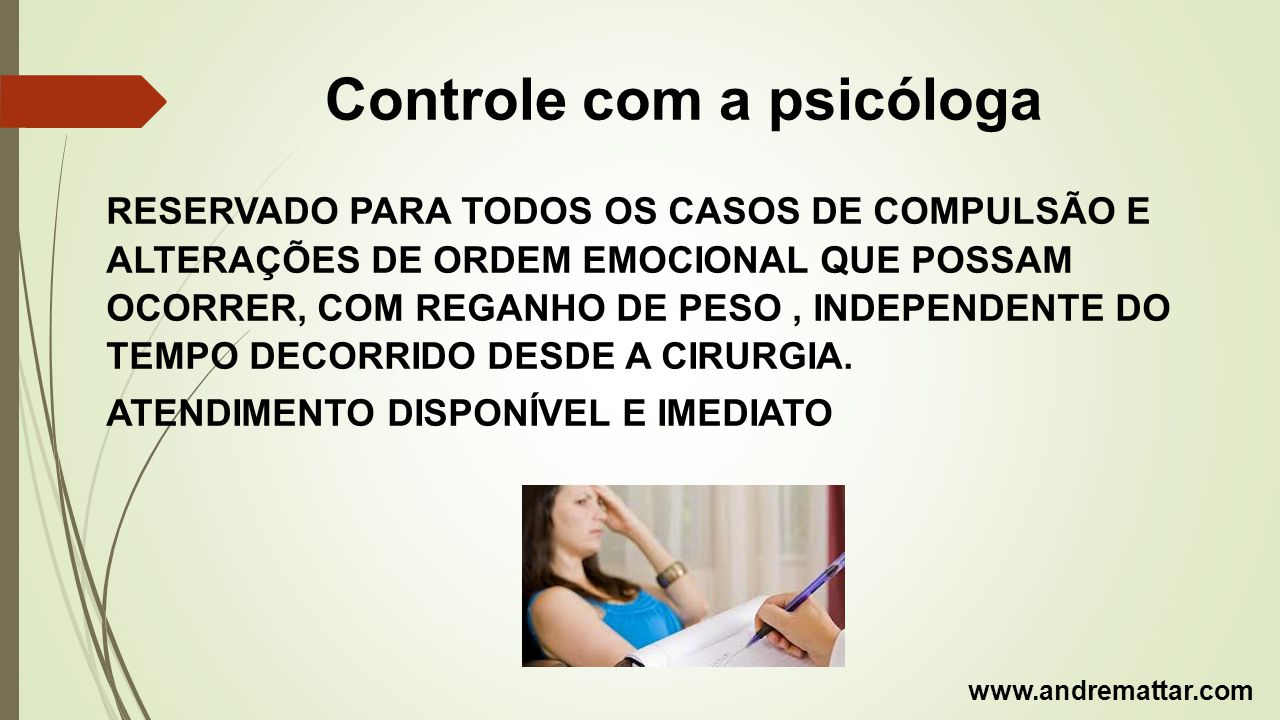 Controle com a psicóloga