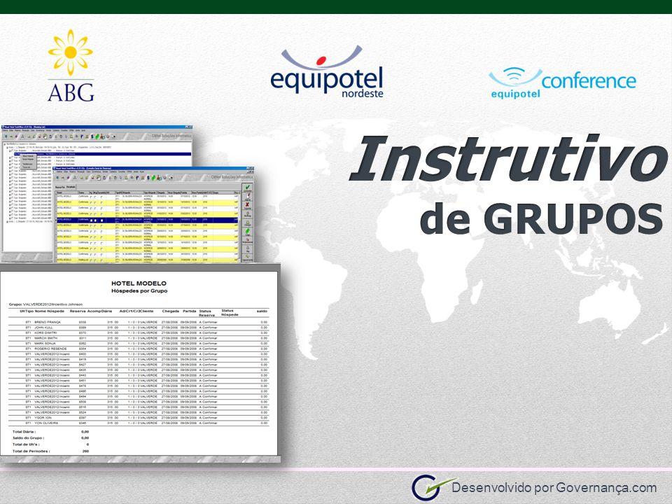 Instrutivo de GRUPOS Informações Comerciais Informações de Hospedagem
