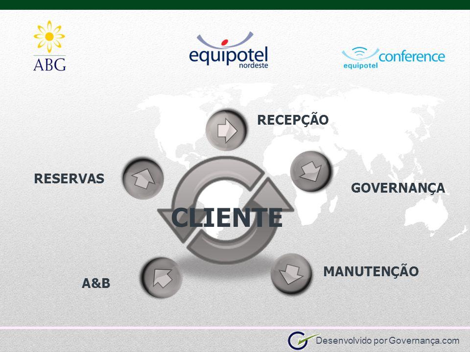 CLIENTE RECEPÇÃO RESERVAS GOVERNANÇA MANUTENÇÃO A&B