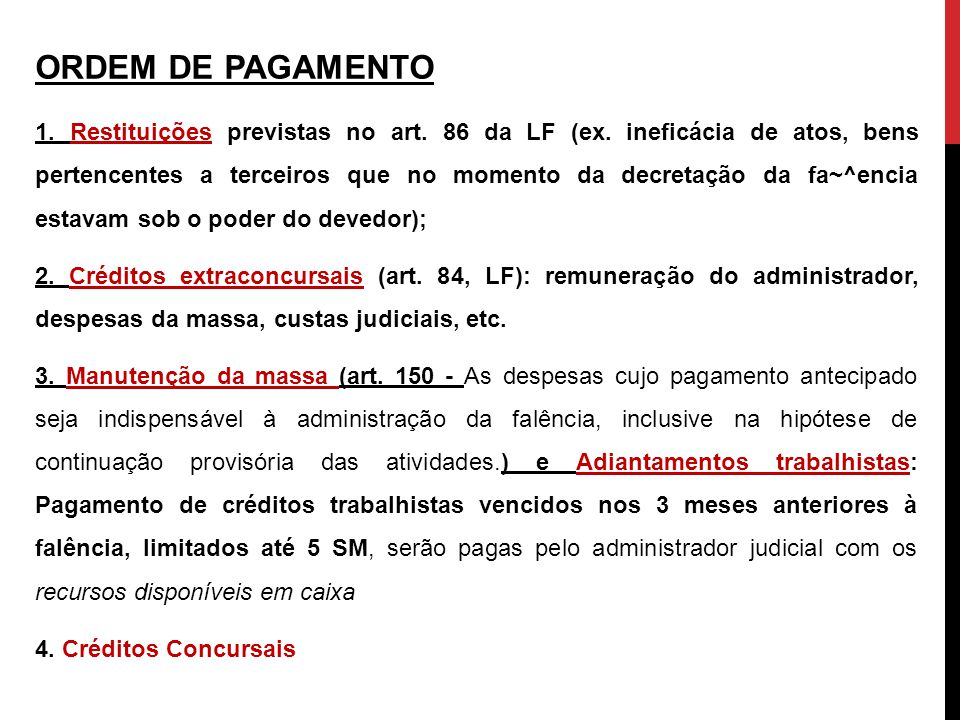 ORDEM DE PAGAMENTO