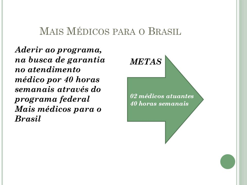 Mais Médicos para o Brasil