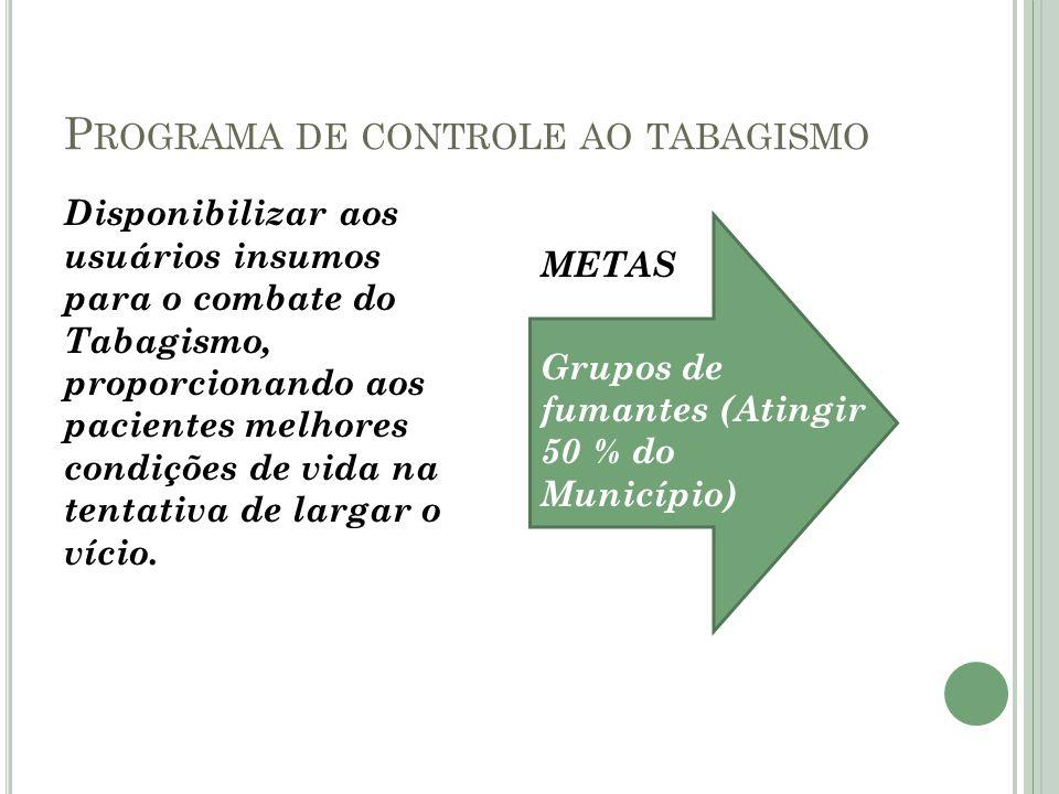 Programa de controle ao tabagismo