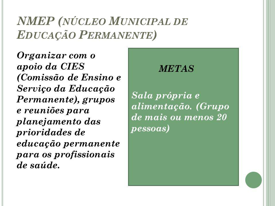 NMEP (núcleo Municipal de Educação Permanente)