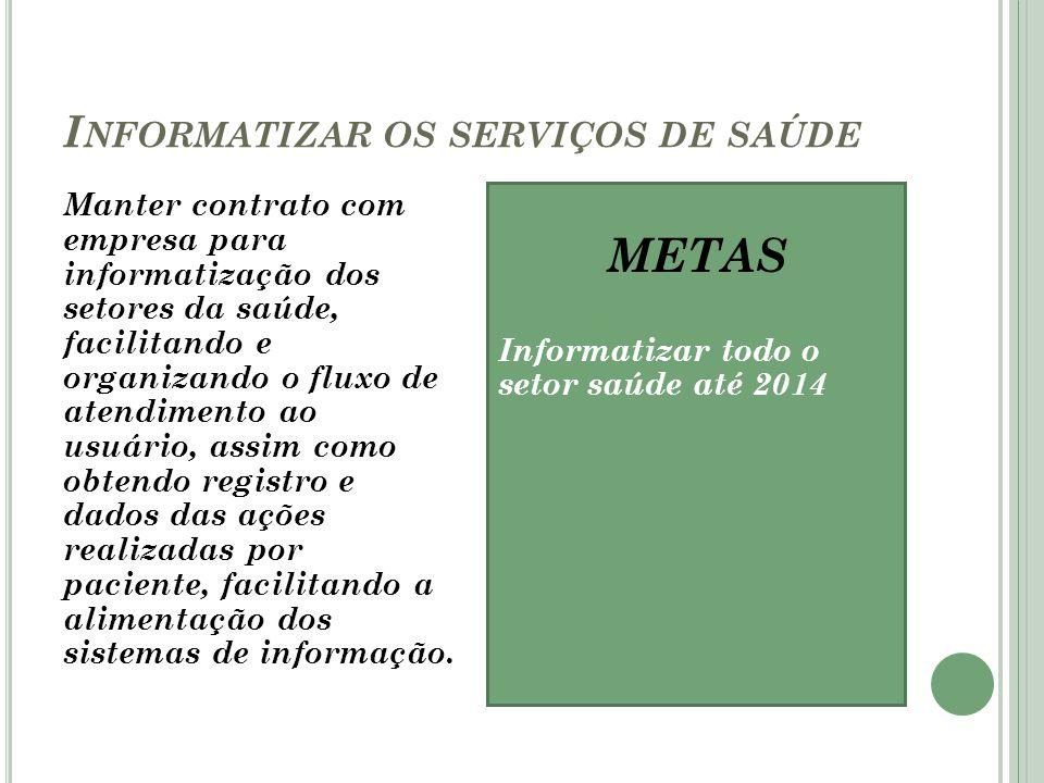 Informatizar os serviços de saúde