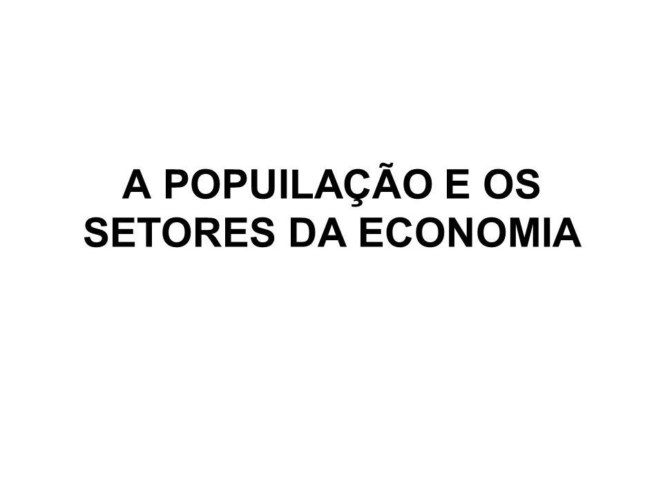 A POPUILAÇÃO E OS SETORES DA ECONOMIA