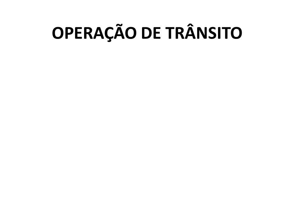 OPERAÇÃO DE TRÂNSITO