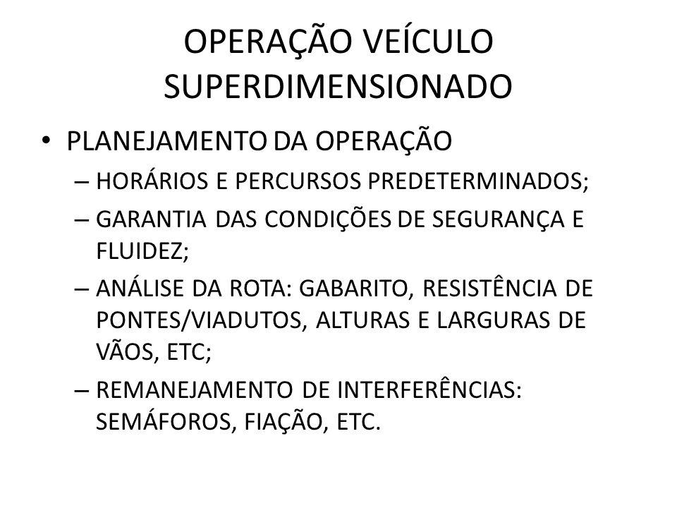 OPERAÇÃO VEÍCULO SUPERDIMENSIONADO