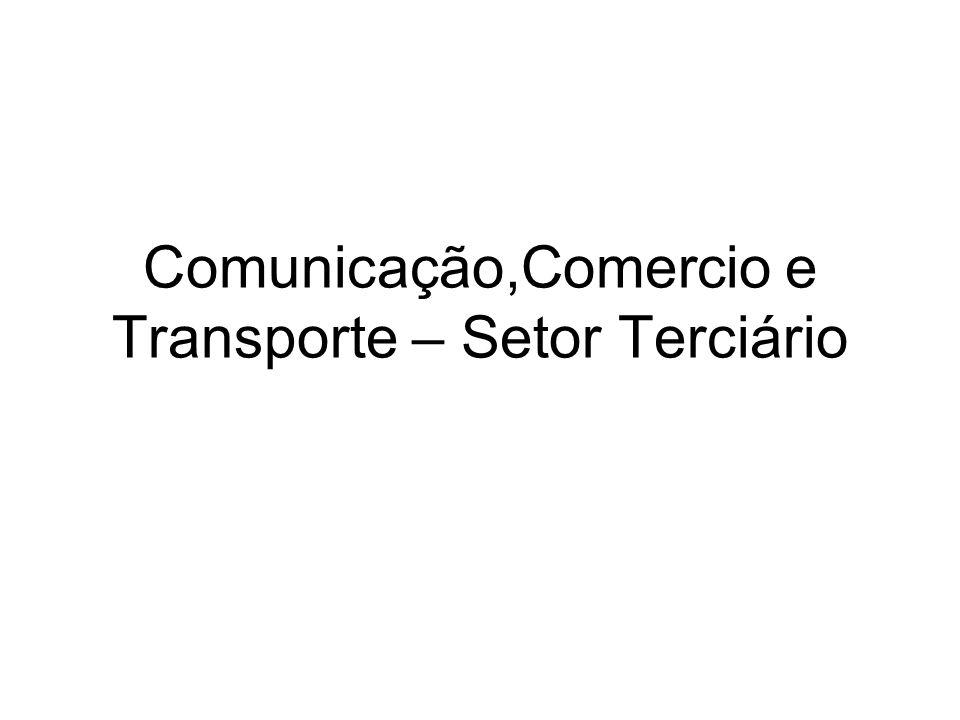 Comunicação,Comercio e Transporte – Setor Terciário
