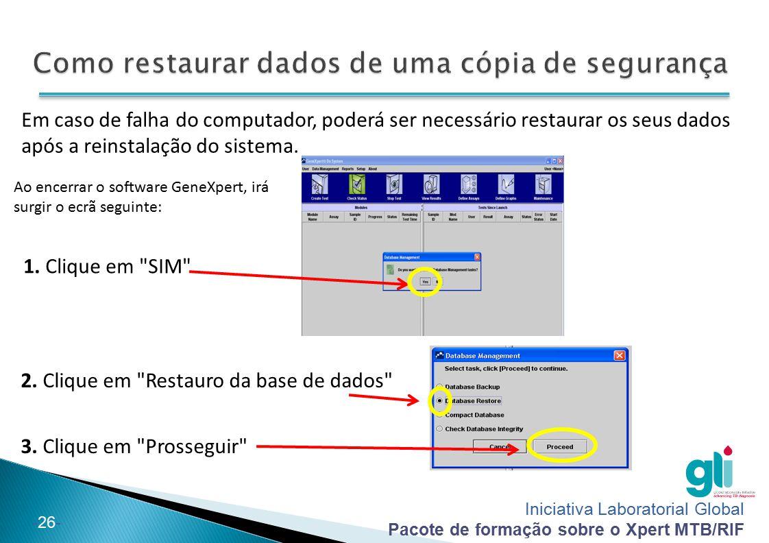 Como restaurar dados de uma cópia de segurança