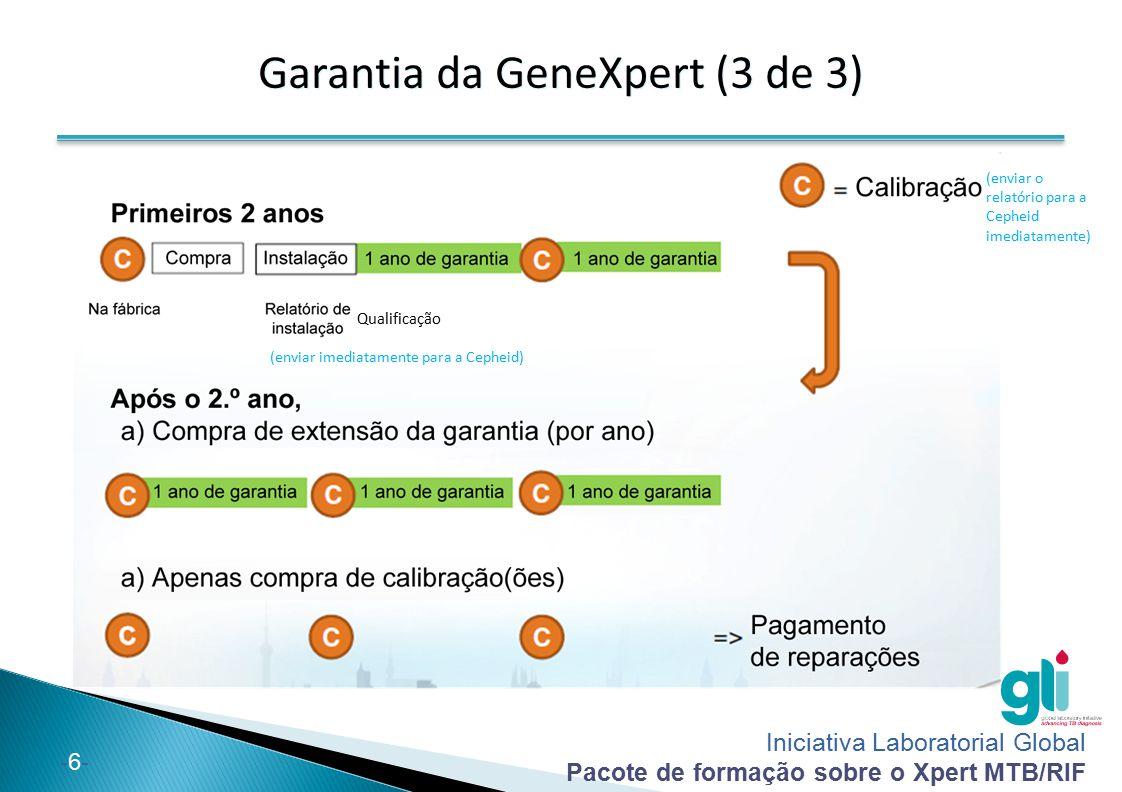 Garantia da GeneXpert (3 de 3)