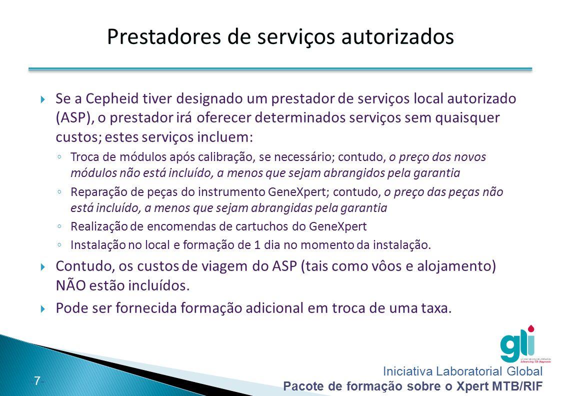 Prestadores de serviços autorizados
