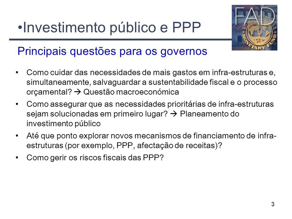 Investimento público e PPP