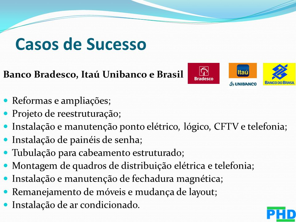 Casos de Sucesso Banco Bradesco, Itaú Unibanco e Brasil