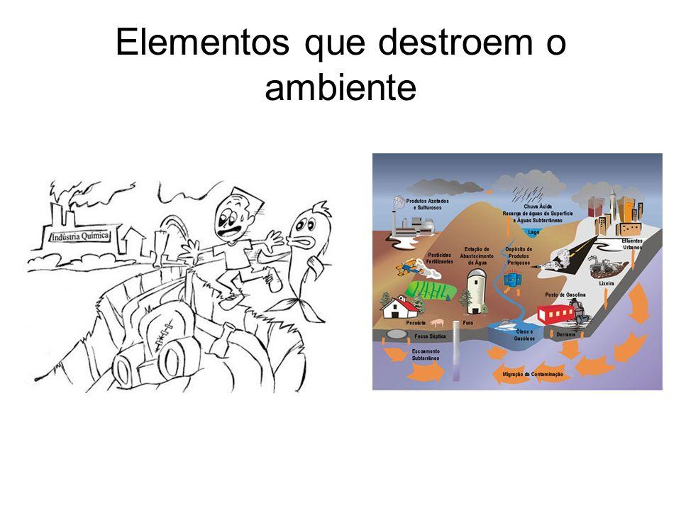 Elementos que destroem o ambiente