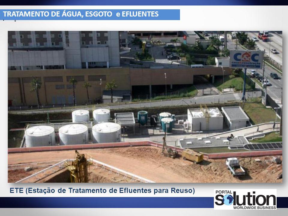 TRATAMENTO DE ÁGUA, ESGOTO e EFLUENTES