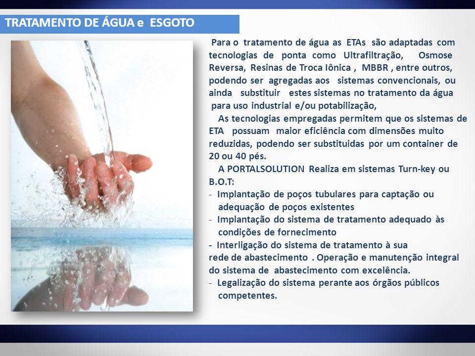 TRATAMENTO DE ÁGUA e ESGOTO