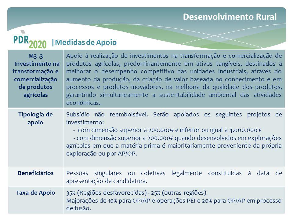 Investimento na transformação e comercialização de produtos agrícolas