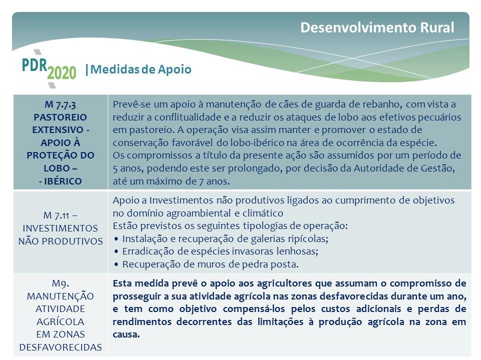 M 7.7.3 PASTOREIO EXTENSIVO - APOIO À PROTEÇÃO DO LOBO –