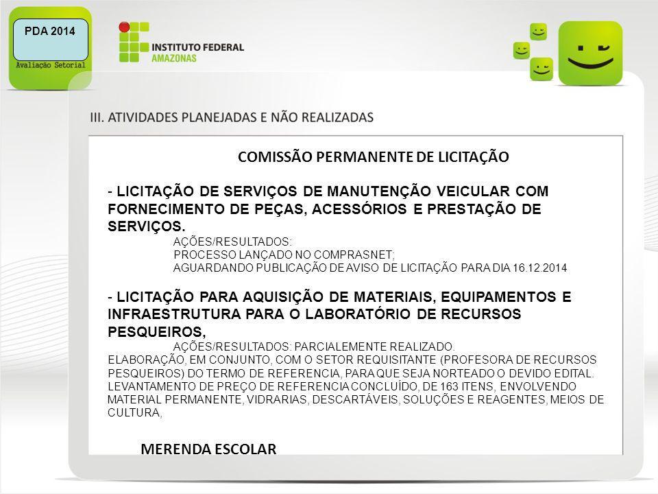 COMISSÃO PERMANENTE DE LICITAÇÃO
