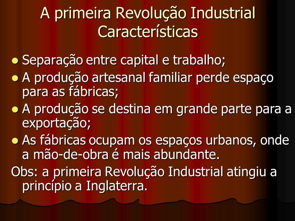 A primeira Revolução Industrial Características