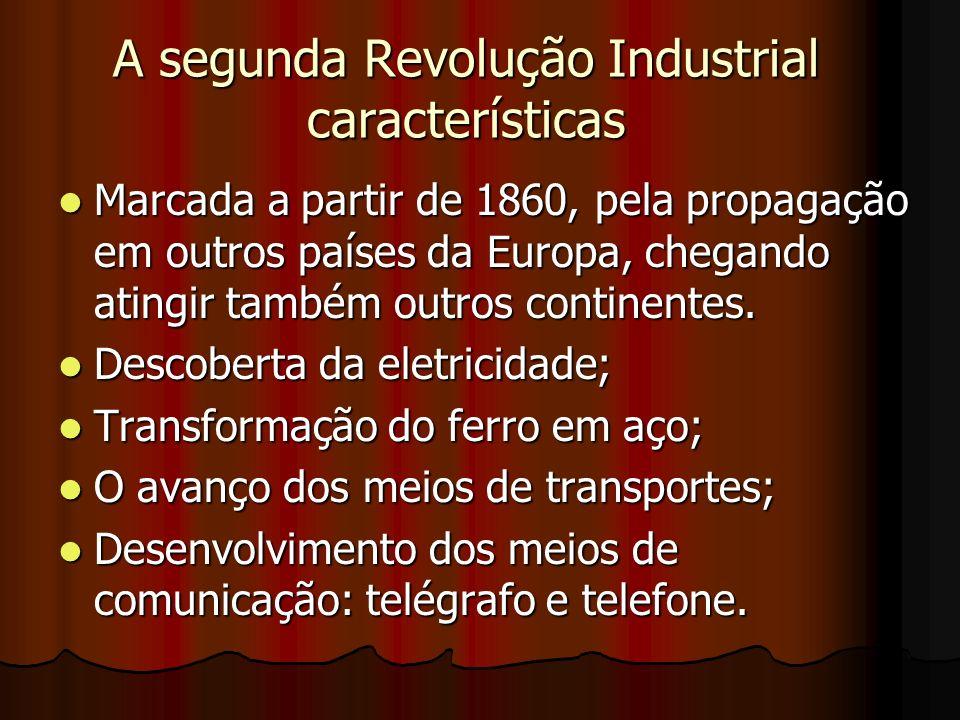 A segunda Revolução Industrial características