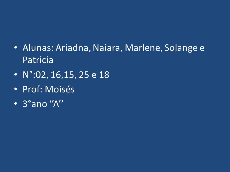 Alunas: Ariadna, Naiara, Marlene, Solange e Patricia