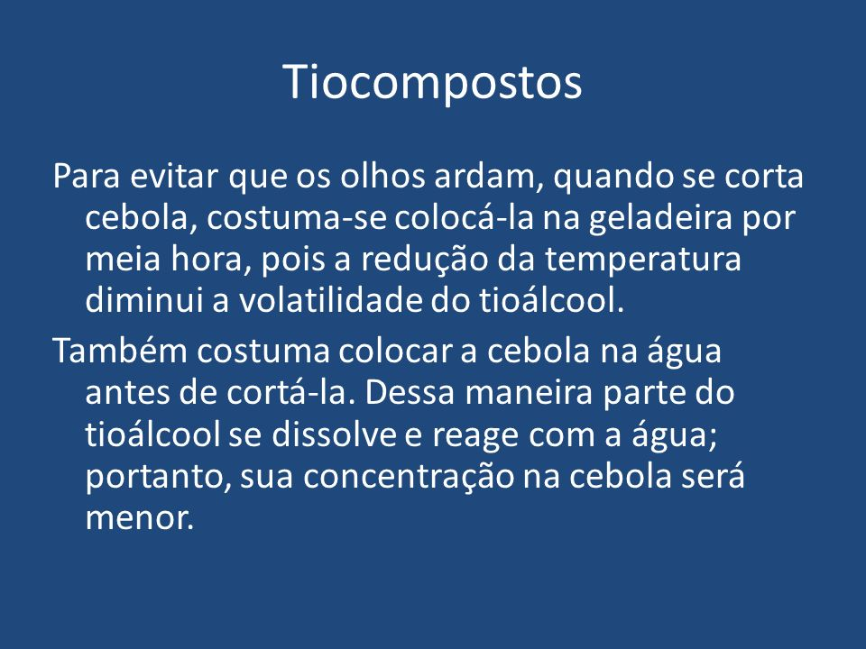 Tiocompostos