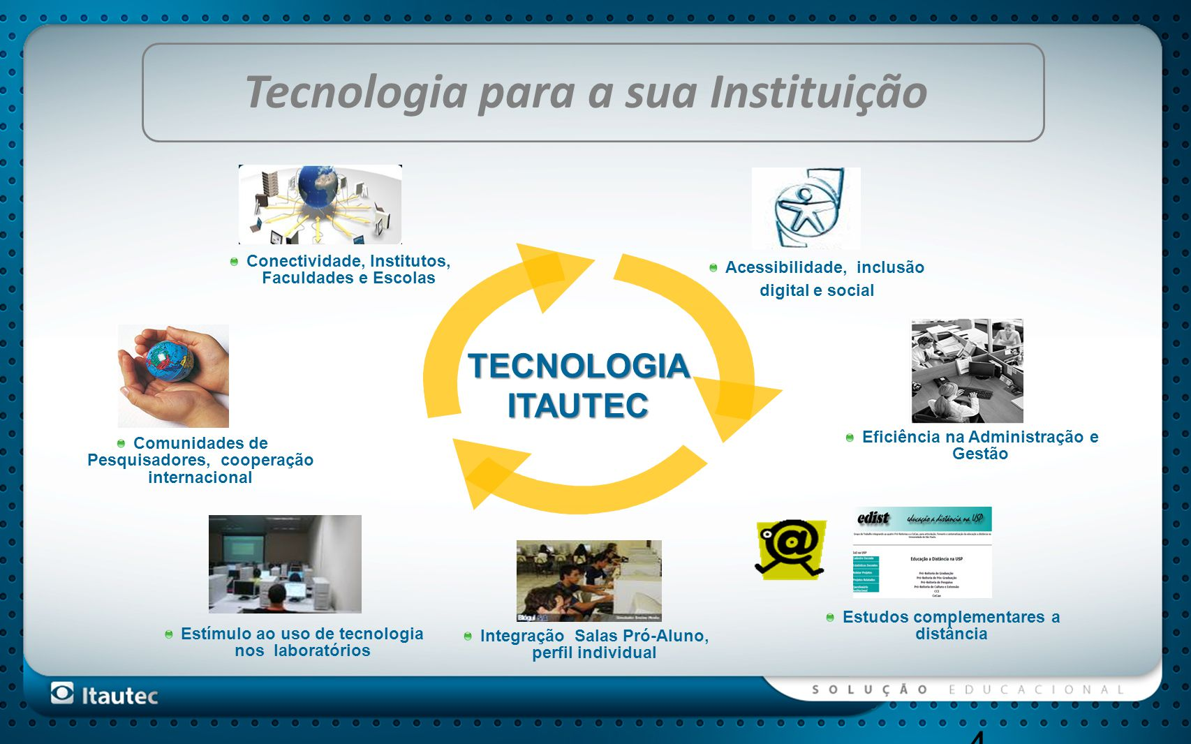 Tecnologia para a sua Instituição