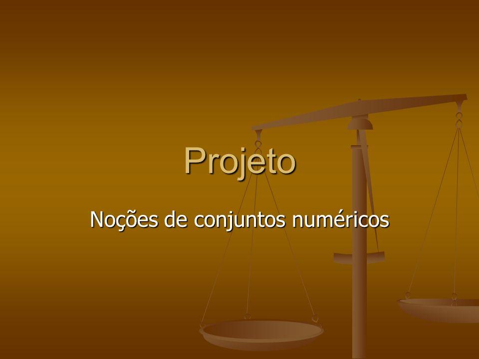 Noções de conjuntos numéricos