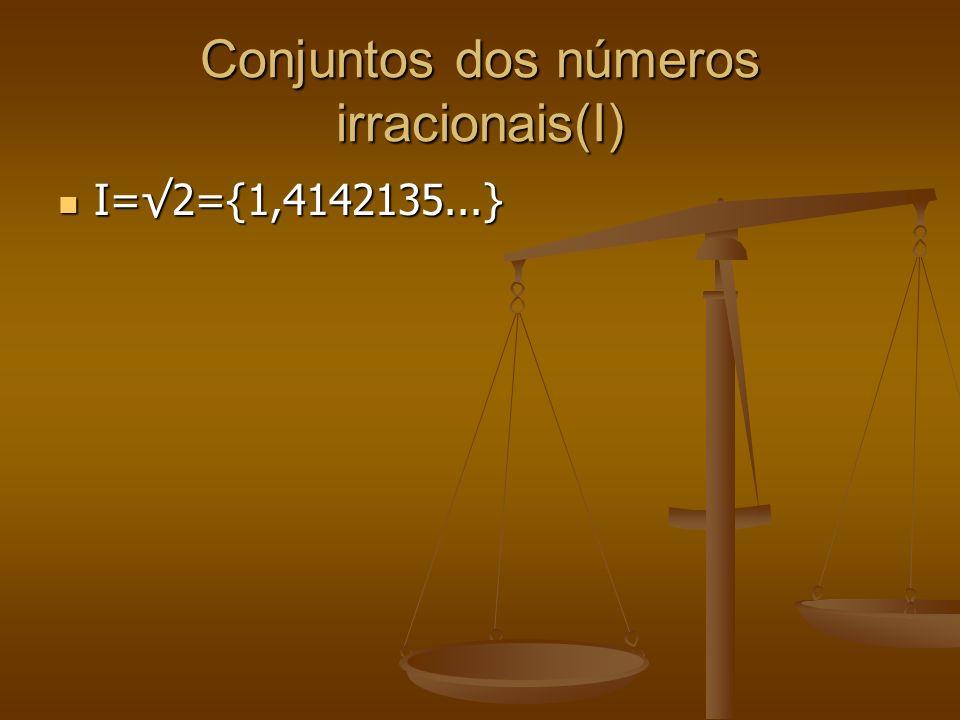 Conjuntos dos números irracionais(I)