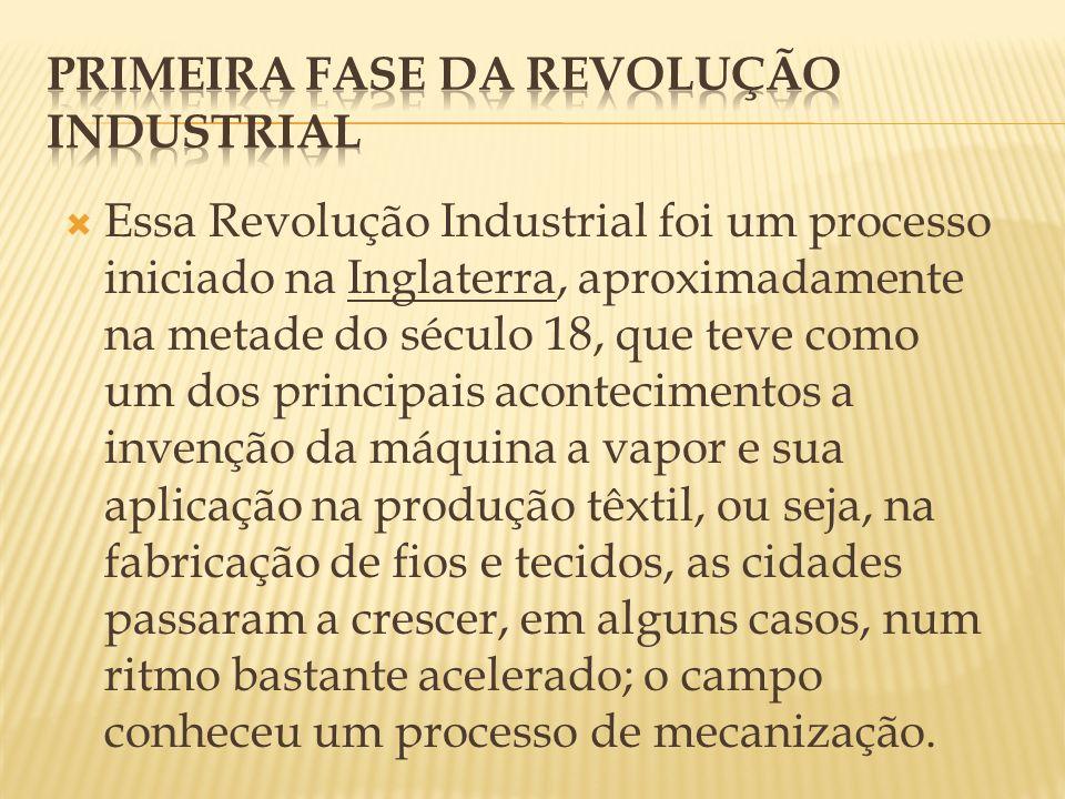 Primeira fase da revolução Industrial